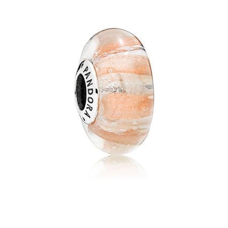 Shimmering Strip Murano Glass Charm
