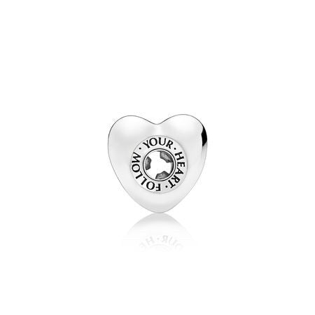 Follow your heart charm by Pandora.