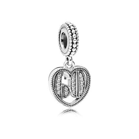 A 60 years of love charm by Pandora.