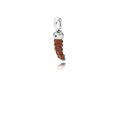 Red Enamel Corno Pendant by Pandora.