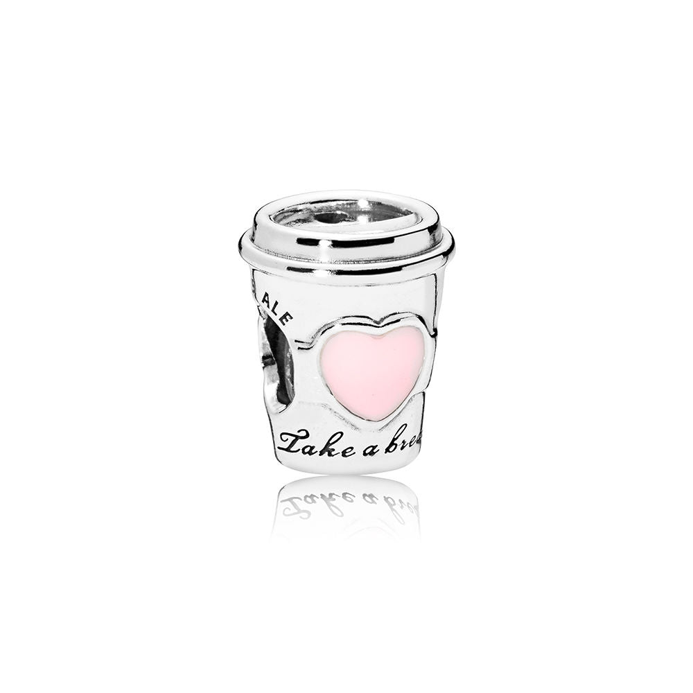 A coffee cup charm by Pandora.