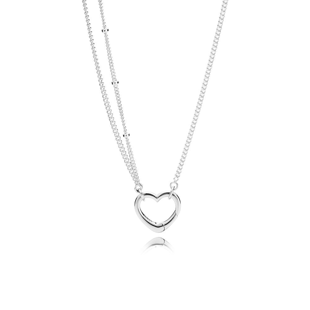 Open heart necklace by Pandora.