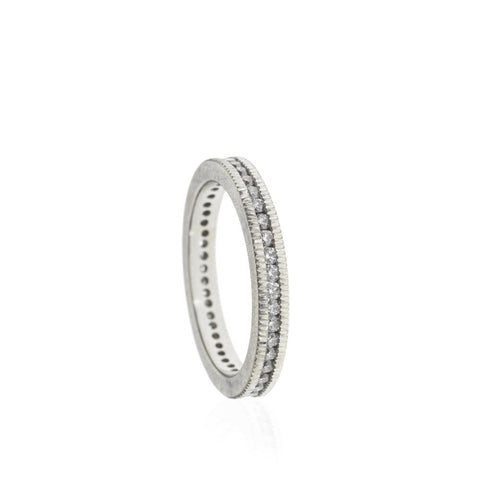 Todd Reed Eternity band with Raw diamonds Santa Fe Jewelry