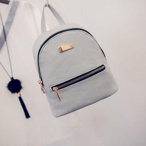 2016 Fashion Women's Backpack New Zipper Solid Double shoulder Bags Travel Small School Rucksack