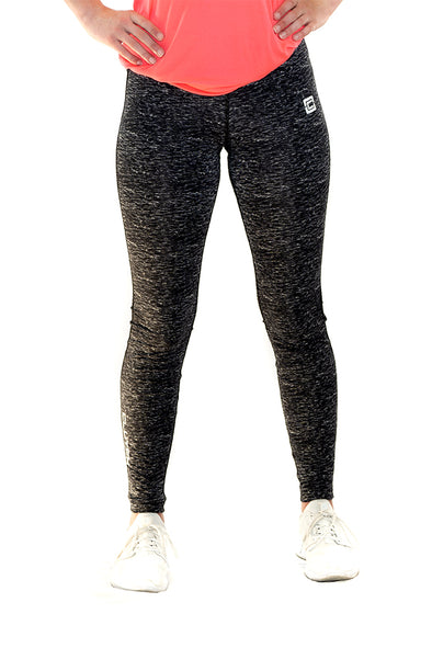 Women's Full Length Leggings  Black Space Dye