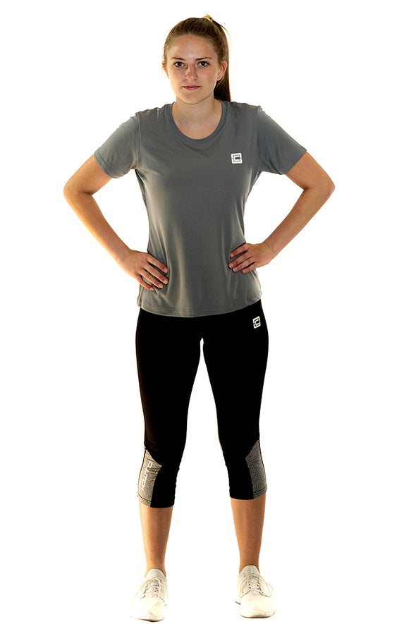 Women's Capri Length Leggings  Black/Black Heather