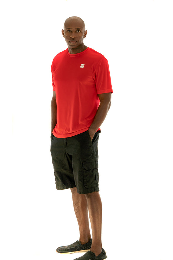 Men's Lightweight Sportswear T-Shirt Red/White Logo