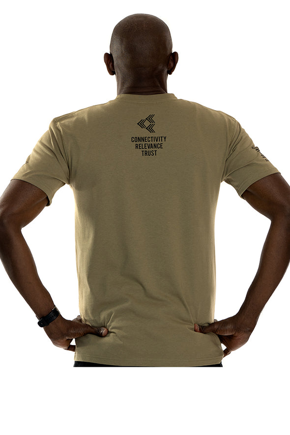 FEHERTY'S TROOPS FIRST FOUNDATION - Men's T-Shirt Coyote Brown