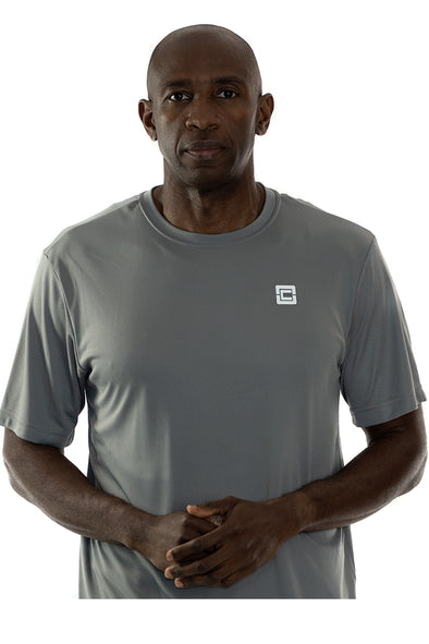 Men's Lightweight Sportswear T-Shirt Gray/White Logo