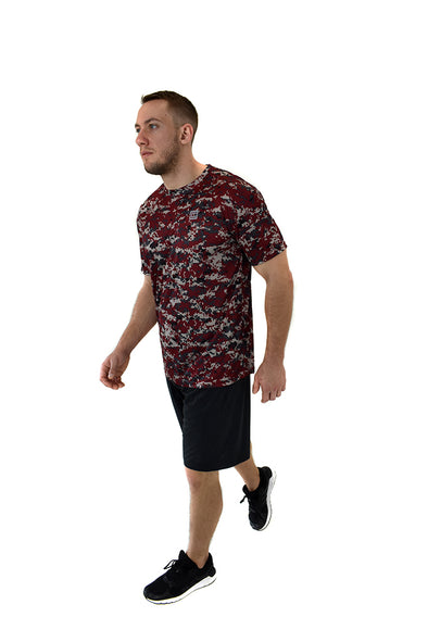 Men's SS  Camo T-Shirt Maroone