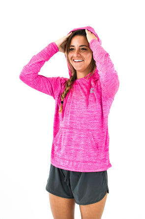 Women's Hooded Tee Pink