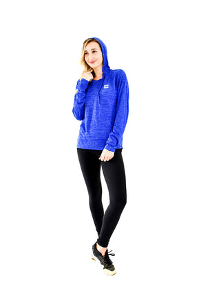 Women's Hooded Tee Royal