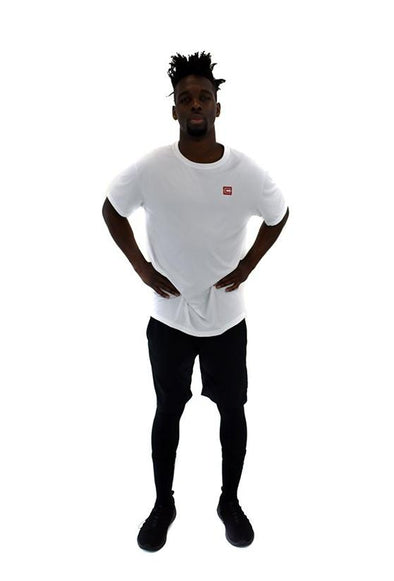 Men's Lightweight Sportswear T-Shirt White/Red Logo