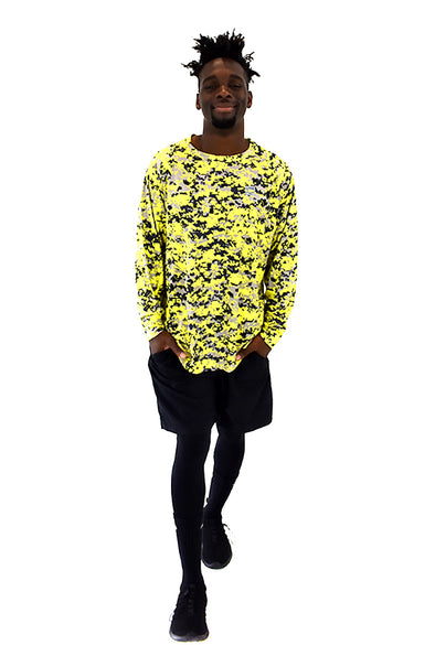 Men's LS Camo T-Shirt Yellow