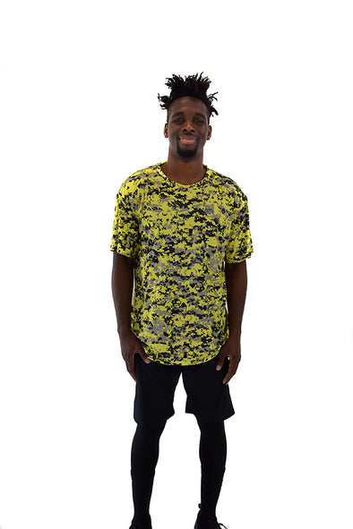 Men's SS Camo Tee Yellow