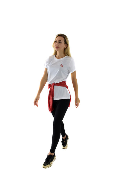 Women's Lightweight Sportswear Tee White/Red Logo