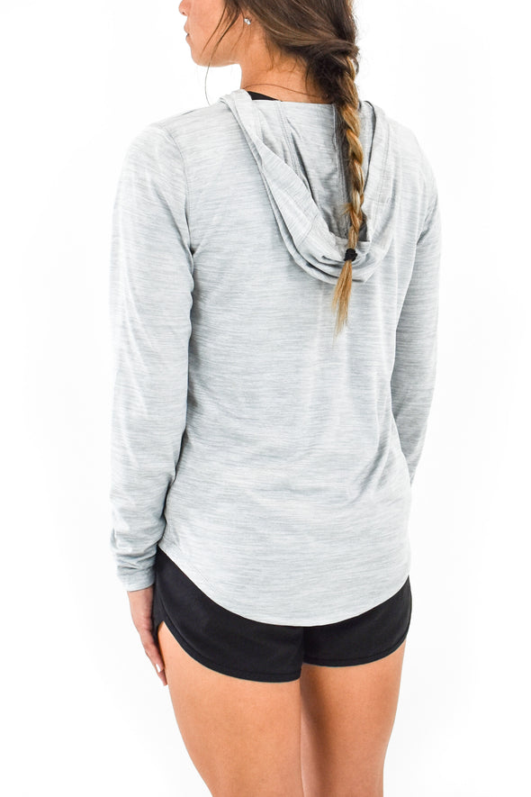 Women's Hooded Tee Silver