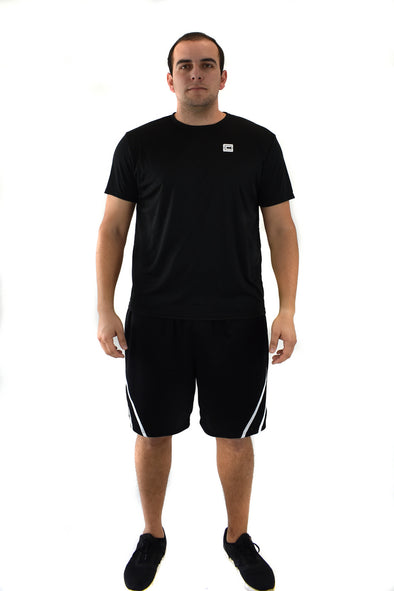 Men's Lightweight Sportswear T-Shirt Black/White Logo