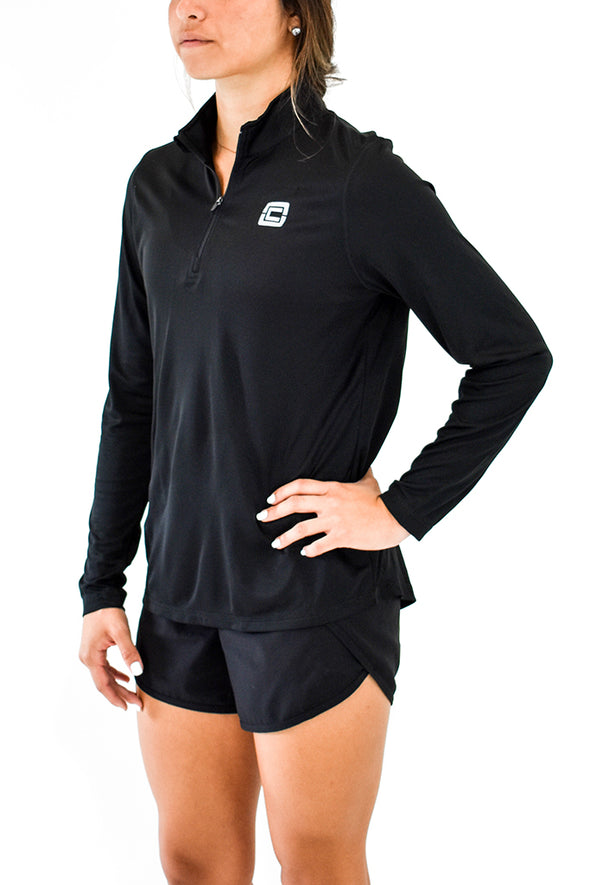 Women's 1/4 Zip Pullover Black