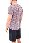 Men's Ripple T-Shirt Maroone