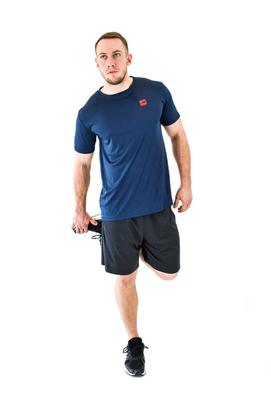 Men's Lightweight Sportswear T-Shirt Navy/Red Logo