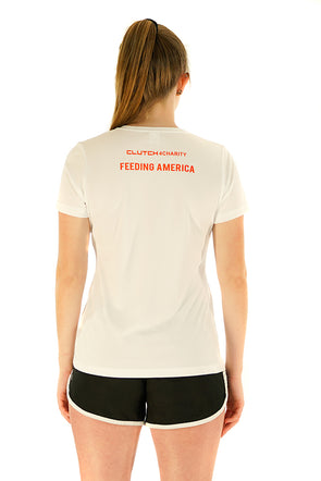 FEEDING AMERICA - Women's Tech Crew Neck T-Shirt White