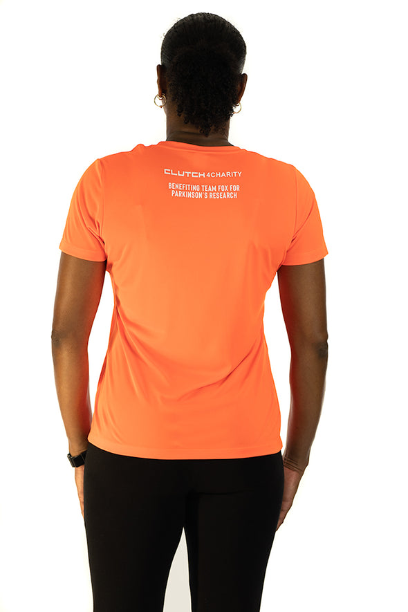 MICHAEL J. FOX FOUNDATION - Women's Crew Neck T-Shirt Orange