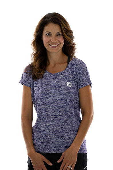 Women's Electric Heather Tee Purple Electric