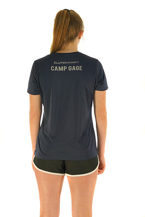 CAMP GAGE - Women's Tech Crew Neck T-Shirt Navy Blue