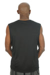 Men's Sleeveless Competitor Tank Black/White Logo