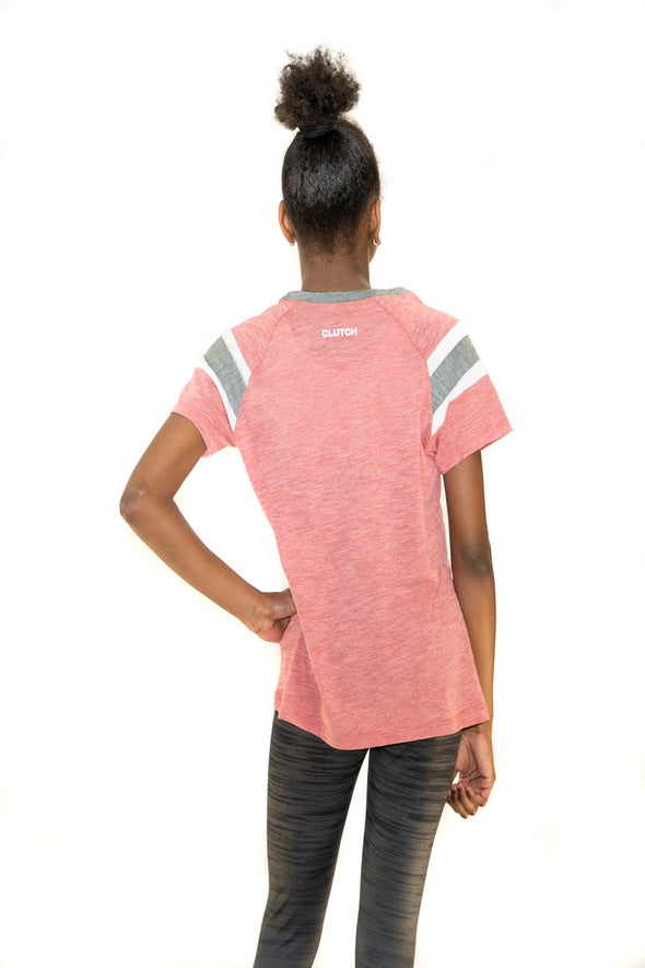 Youth Girl's Fan Tee Red