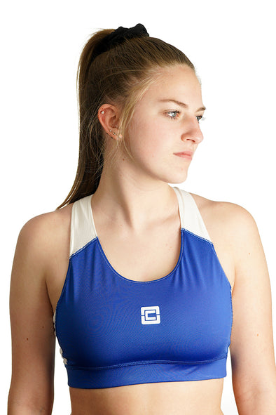 Women's All Sports Bra Blue/White Logo