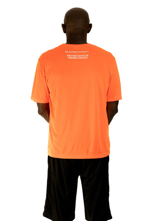 MICHAEL J. FOX FOUNDATION - Men's crew neck T-Shirt Orange