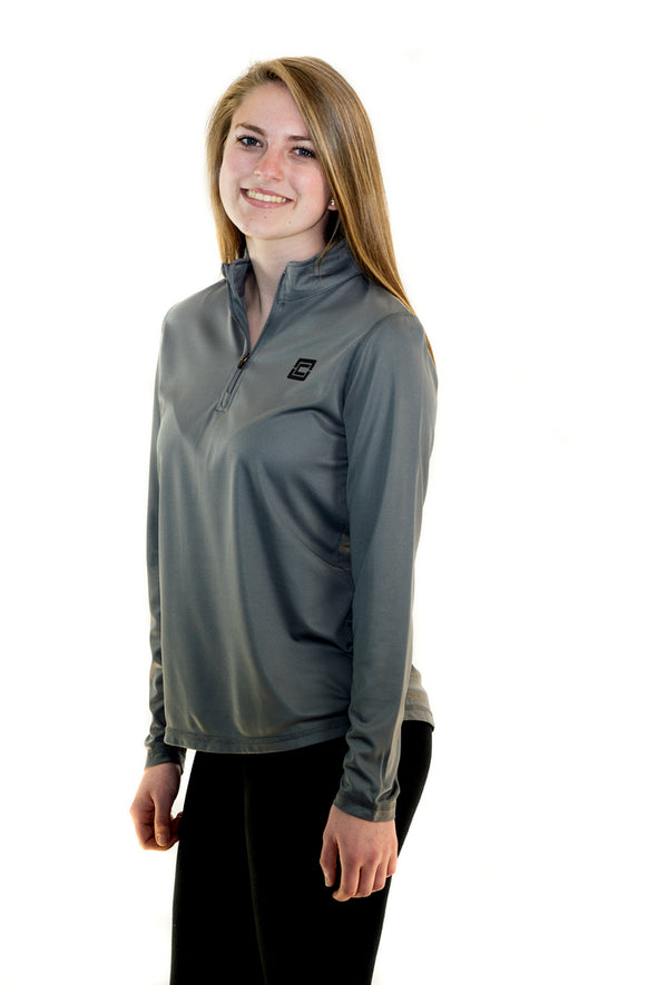 Women's 1/4 Zip Pullover Graphite
