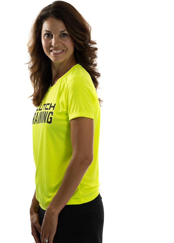 Women's Training Tee  Neon Yellow/Black Logo
