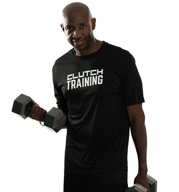 Men's Training Tee  Black/White logo