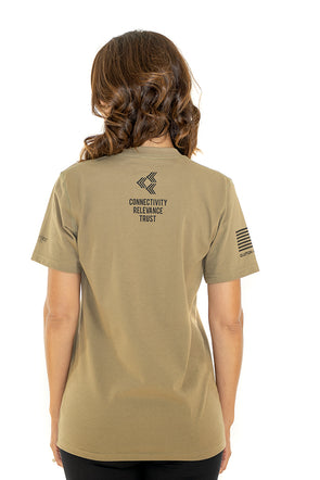 FEHERTY'S TROOPS FIRST FOUNDATION - Women's T-Shirt Coyote Brown