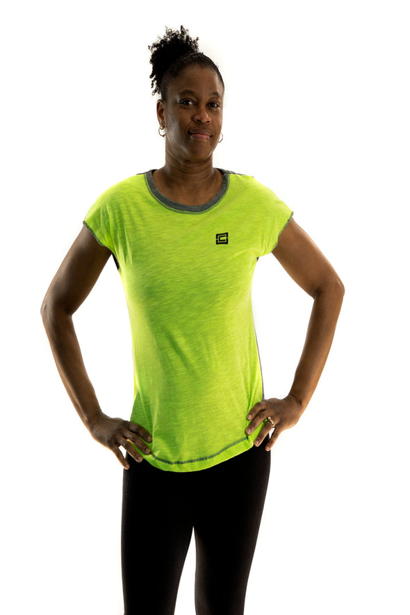 Women's Sensation Tee Lime