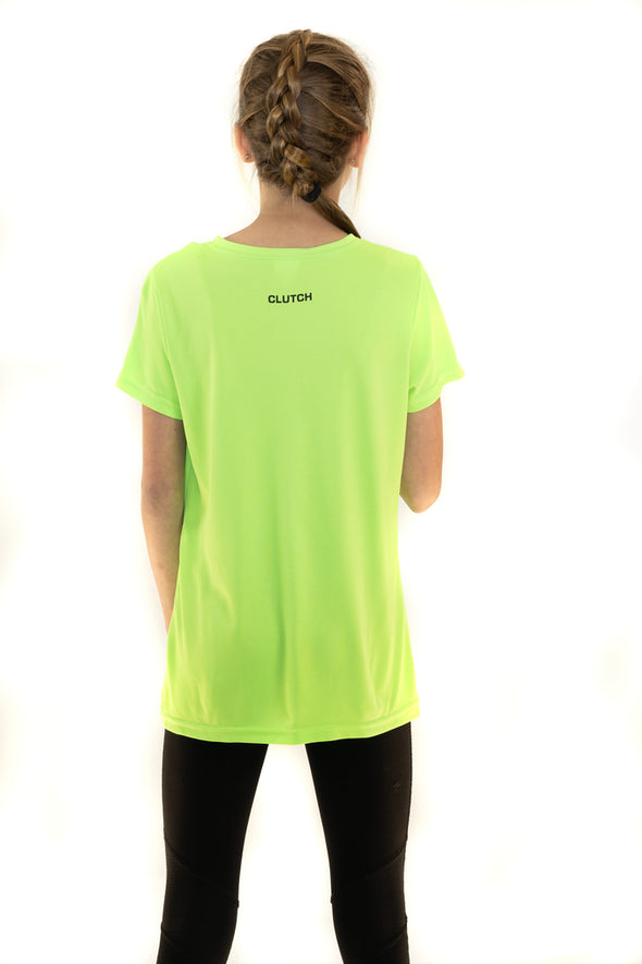Youth  Girl's Wicking T-Shirt Lime