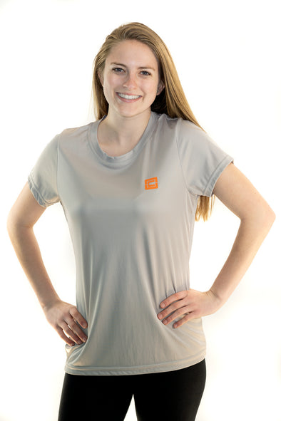 NATIONAL MULTIPLE SCLEROSIS SOCIETY - Women's Tech Crew Neck T-Shirt Silver