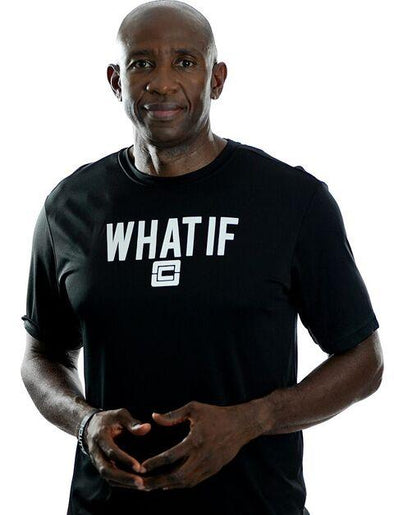 Men's WHAT IF T-Shirt Black/White Logo