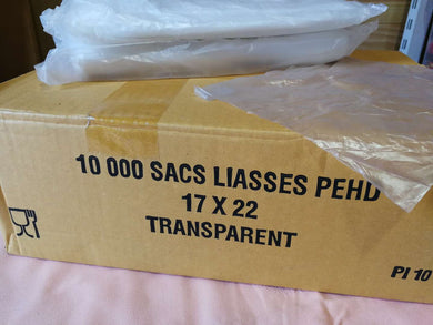 Sacs liasses transparent (17 x 22 cm)