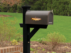 Brown Trout Mailbox Decal