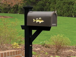 Yellow Perch Mailbox Decal