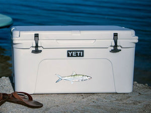 Bonefish cooler decal