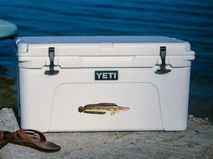 Bullseye Snakehead cooler decal
