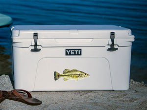 largemouth bass cooler decal