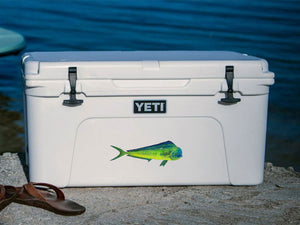 mahi mahi cooler decal