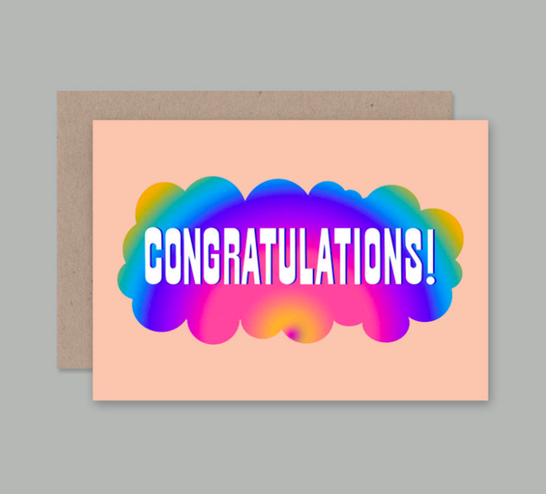 AHD - Greetings Cards - Pink Congratulations