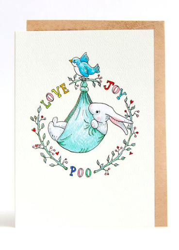 Wally Paper Co Cards - Love, Joy, Poo